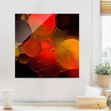 Produktfoto Glasbild - Astronomisch - Quadrat 1:1
