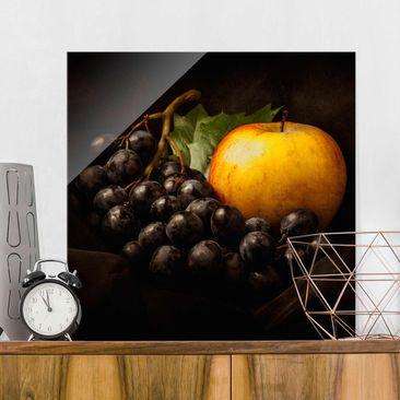Immagine del prodotto Quadro in vetro - Natura Morta Scura - Quadrato 1:1