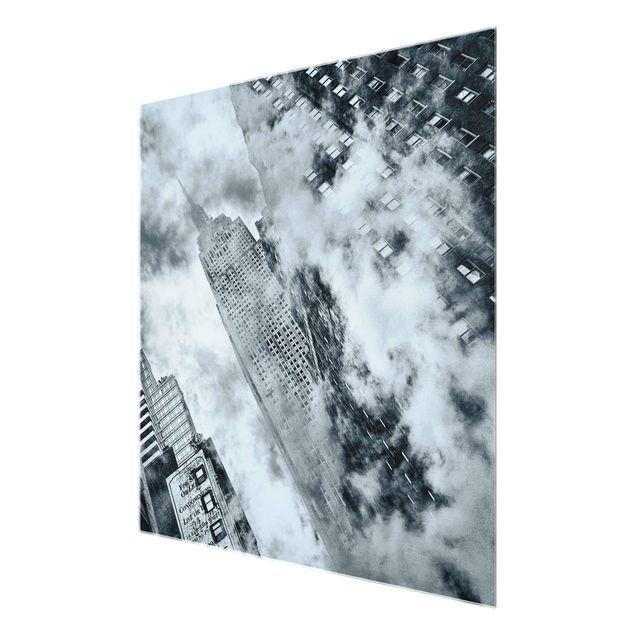 Produktfoto Glasbild - Fassade des Empire State Buildings - Quadrat 1:1
