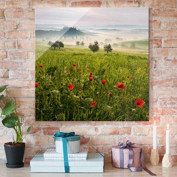 Produktfoto Glasbild - Toskana Frühling - Quadrat 1:1