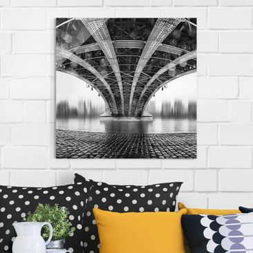 Produktfoto Glasbild - Under The Iron Bridge -...