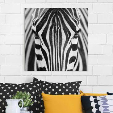 Immagine del prodotto Quadro in vetro - Zebra Look - Quadrato 1:1