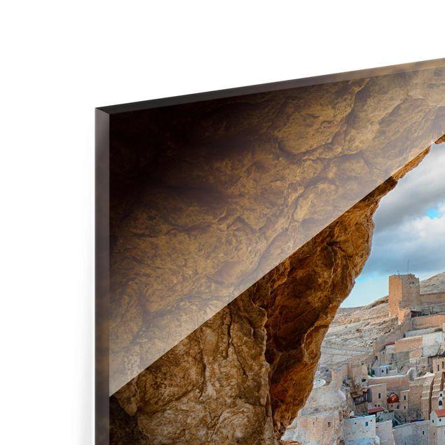 Produktfoto Glasbild - Blick auf ein Kloster - Quer 2:3