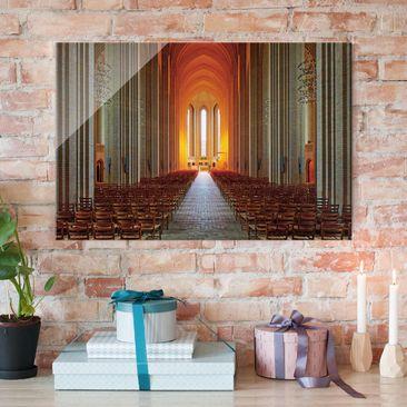 Produktfoto Glasbild - Grundtvigskirche in Kopenhagen - Quer 2:3