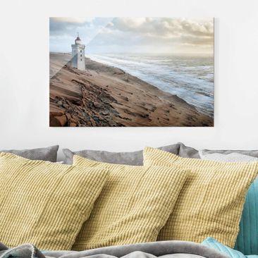 Produktfoto Glasbild - Leuchtturm in Dänemark - Quer 2:3
