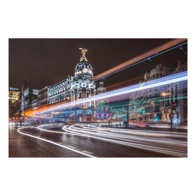 Produktfoto Glasbild - Madrid Traffic - Quer 2:3