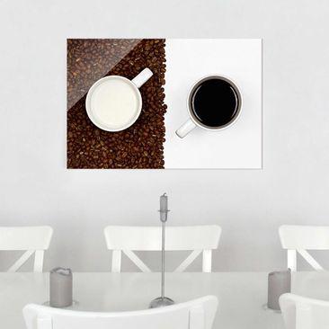 Produktfoto Glasbild - Milchkaffee - Quer 2:3
