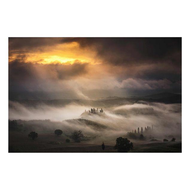 Produktfoto Glasbild - Nebelwellen - Quer 2:3