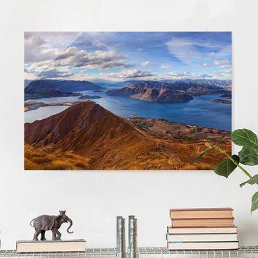 Produktfoto Glasbild - Roys Peak in Neuseeland - Quer 2:3