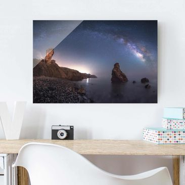 Produktfoto Glasbild - Sea of galaxies - Quer 2:3