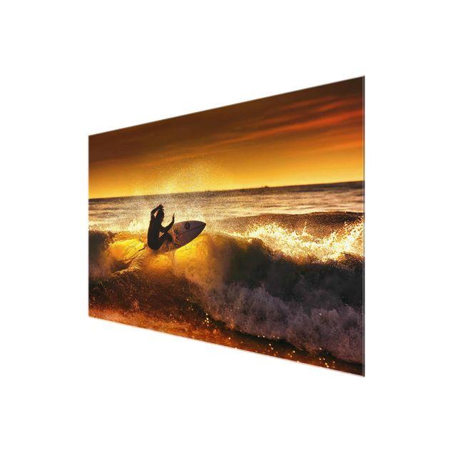 Produktfoto Glasbild - Sun, Fun and Surf - Quer 2:3