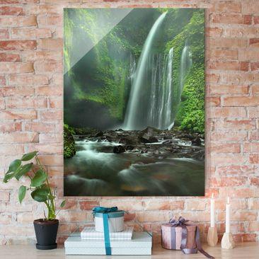 Immagine del prodotto Quadro in vetro - Cascata Tropicale - Verticale 4:3