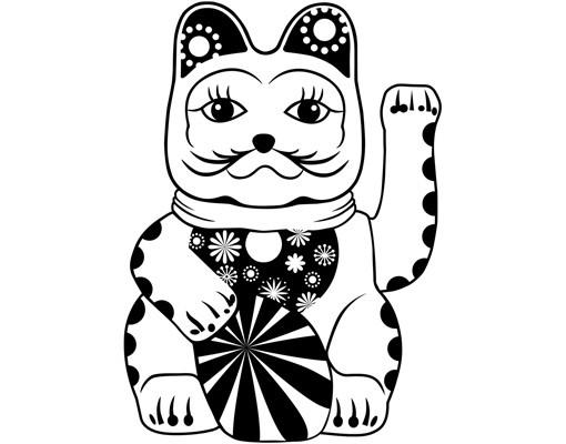 Produktfoto Wandtattoo Katze No.NR2 Glückskatze Blume