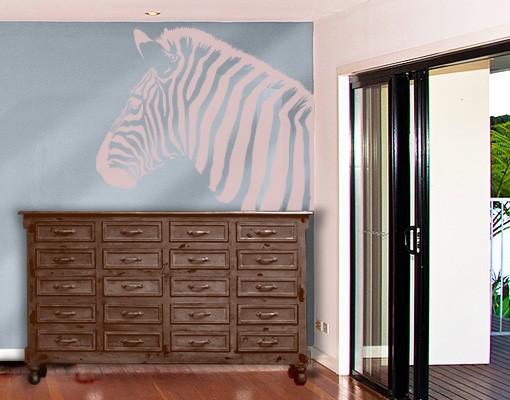 Produktfoto Fensterfolie - Fenstertattoo No.892 Regenbogenzebra II - Milchglasfolie