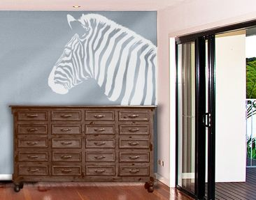 Produktfoto Window Sticker no.892 Rainbow Zebra II