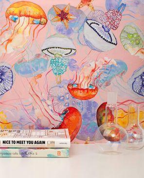 Produktfoto Vliestapete - Jelly Fish Pink - Fototapete Rolle