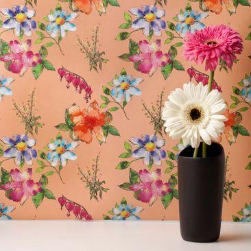 Produktfoto Vliestapete - Spring Serenade Peach -...