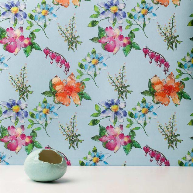 Produktfoto Vliestapete - Spring Serenade Blue - Fototapete Rolle
