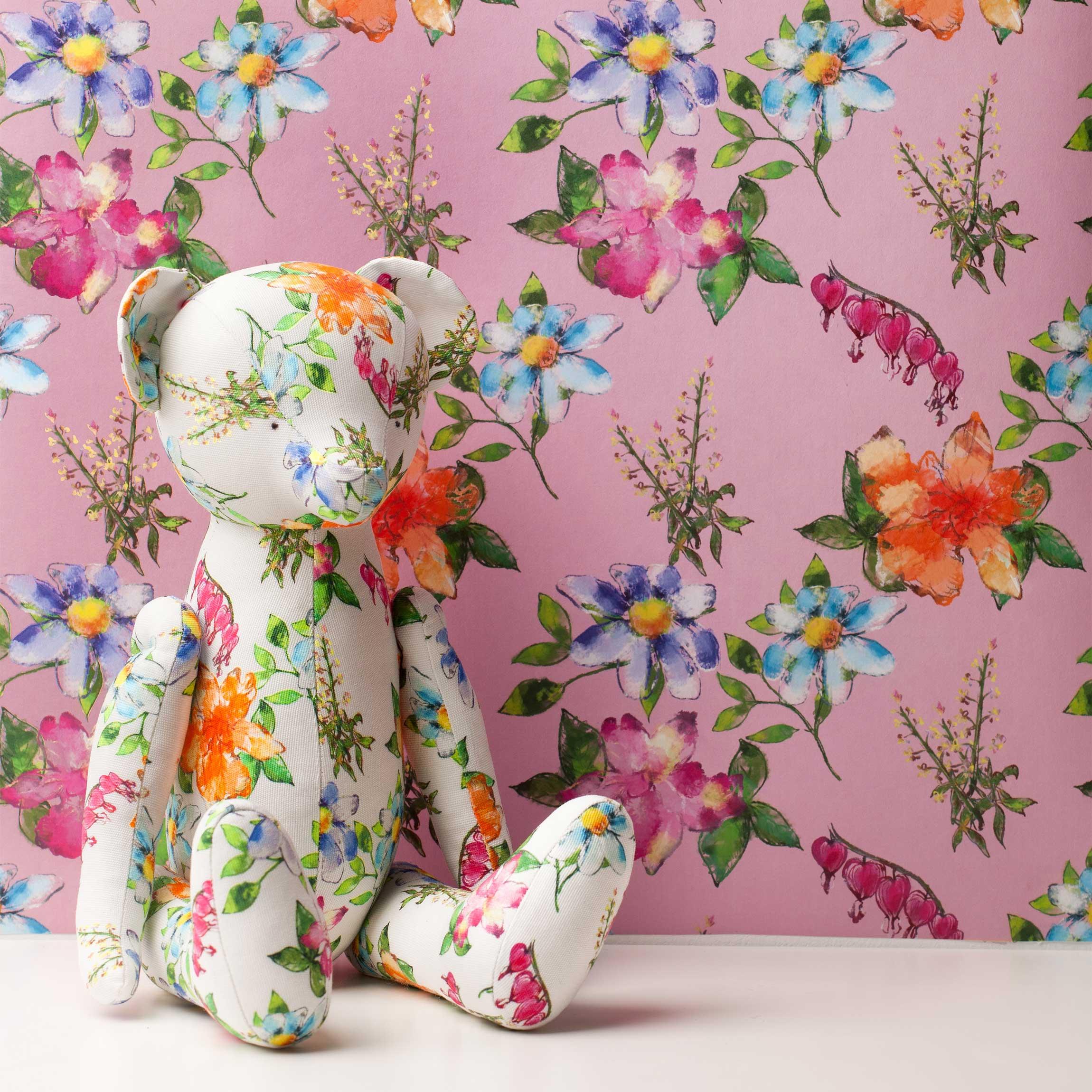 Carta da parati rotolo con disegni spring serenade pink for Rotolo carta parati