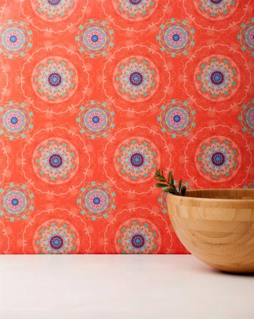 Produktfoto Vliestapete - Mandala Orange - Fototapete Rolle