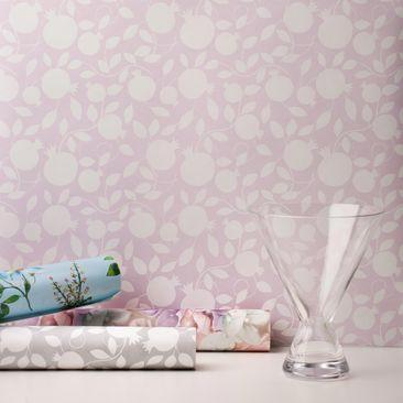 Produktfoto Vliestapete - Pomegranate Light Pink - Fototapete Rolle