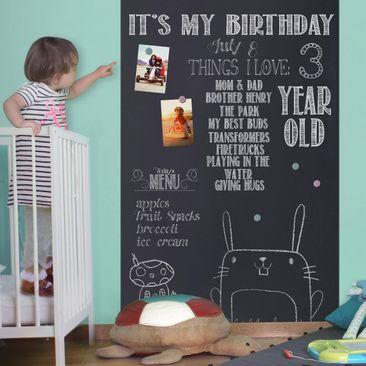 Produktfoto Tafelfolie magnetisch - Kreidetafel selbstklebend - Kinderzimmer