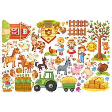 Product picture Wall Decal Big Farm-Set