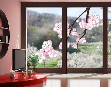 Produktfoto Fensterfolie - Fenstersticker No.TA63 Cherry Blossoms Big - Fensterbilder
