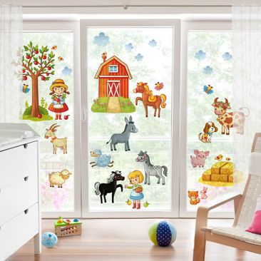 Immagine del prodotto Adesivi da finestra Small Farm-Set