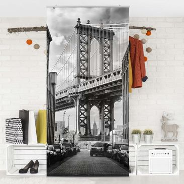 Produktfoto Raumteiler - Manhattan Bridge In America - 250x120cm