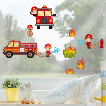 Product picture Window Sticker Fire Brigade in Action...