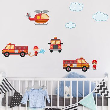 Immagine del prodotto Adesivo murale Firefighter Set with Vehicles