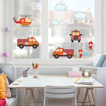 Immagine del prodotto Adesivi da finestra Firefighter Set with Vehicles