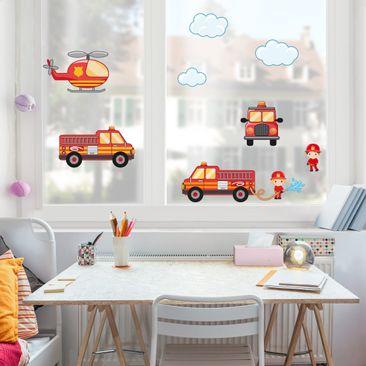 Immagine del prodotto Adesivi da finestra Firefighter Set with...