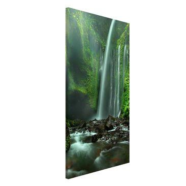 Produktfoto Magnettafel - Tropischer Wasserfall - Memoboard Hoch 4:3