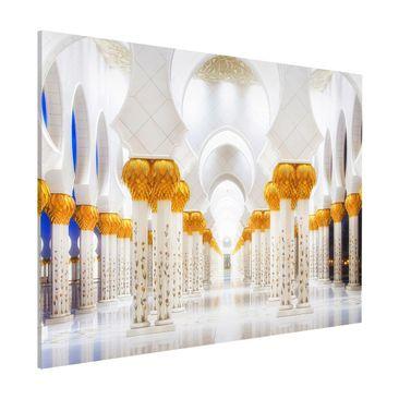 Produktfoto Magnettafel - Moschee in Gold - Memoboard Quer 3:4