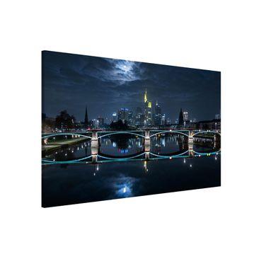 Immagine del prodotto Lavagna magnetica - Frankfurt at Full Moon - Formato orizzontale 3:2