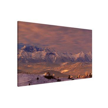 Produktfoto Magnettafel - Hohe Tatra am Morgen - Memoboard Quer 2:3