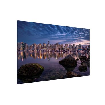 Produktfoto Magnettafel - Vancouver im Sonnenuntergang - Memoboard Quer 2:3
