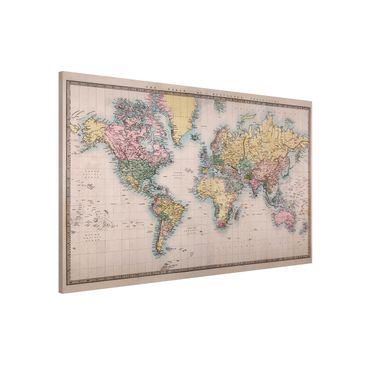 Immagine del prodotto Lavagna magnetica - Vintage World Map around 1850 - Formato orizzontale