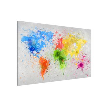 Product picture Magnetic Board - Colorful paint splatter...