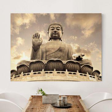 Immagine del prodotto Stampa su tela - Big Buddha Sepia - Orizzontale 3:4