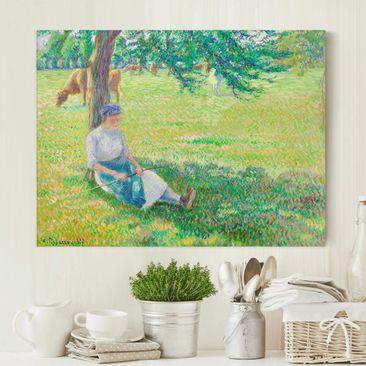 Immagine del prodotto Stampa su tela - Camille Pissarro - La Pastorella, Eragny - Orizzontale 3:4