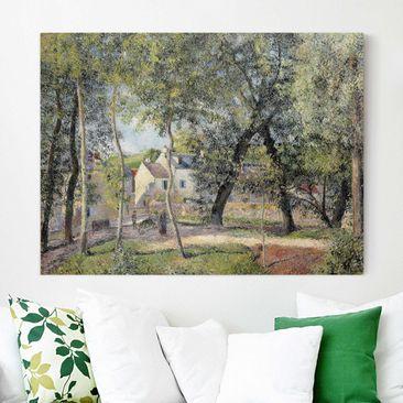 Produktfoto Leinwandbild - Camille Pissarro - Landschaft bei Osny in der Nähe einer Tränke - Quer 3:4, vergrößerte Ansicht in Wohnambiente, Artikelnummer 210608-XWA