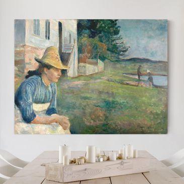 Produktfoto Leinwandbild - Edvard Munch - Abend - Quer 3:4, vergrößerte Ansicht in Wohnambiente, Artikelnummer 210642-XWA