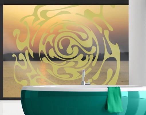 Produktfoto Fensterfolie - Fenstertattoo No.IS50 Wirbel - Milchglasfolie
