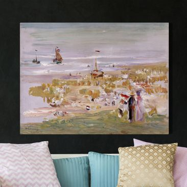 Produktfoto Leinwandbild - Max Liebermann - Der Strand, Scheveningen - Quer 3:4, vergrößerte Ansicht in Wohnambiente, Artikelnummer 210715-XWA