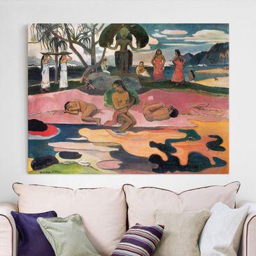 Produktfoto Leinwandbild - Paul Gauguin - Gottestag (Mahana No Atua) - Quer 3:4, vergrößerte Ansicht in Wohnambiente, Artikelnummer 210743-XWA