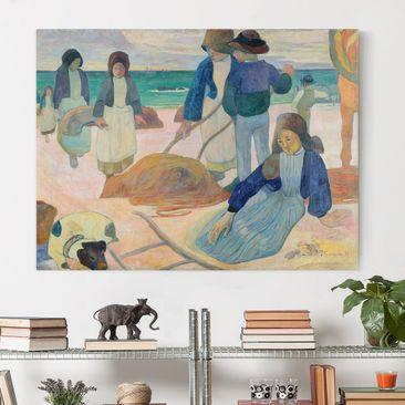 Produktfoto Leinwandbild - Paul Gauguin - Bretonische Tangsammlerinnen (II) - Quer 3:4, vergrößerte Ansicht in Wohnambiente, Artikelnummer 210745-XWA