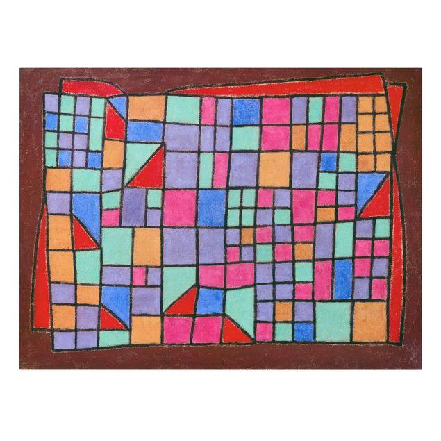 Produktfoto Leinwandbild - Paul Klee - Glas-Fassade - Quer 3:4, Frontalansicht, Artikelnummer 210748-FF